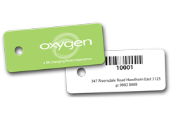 membership barcode tags - gym key tags